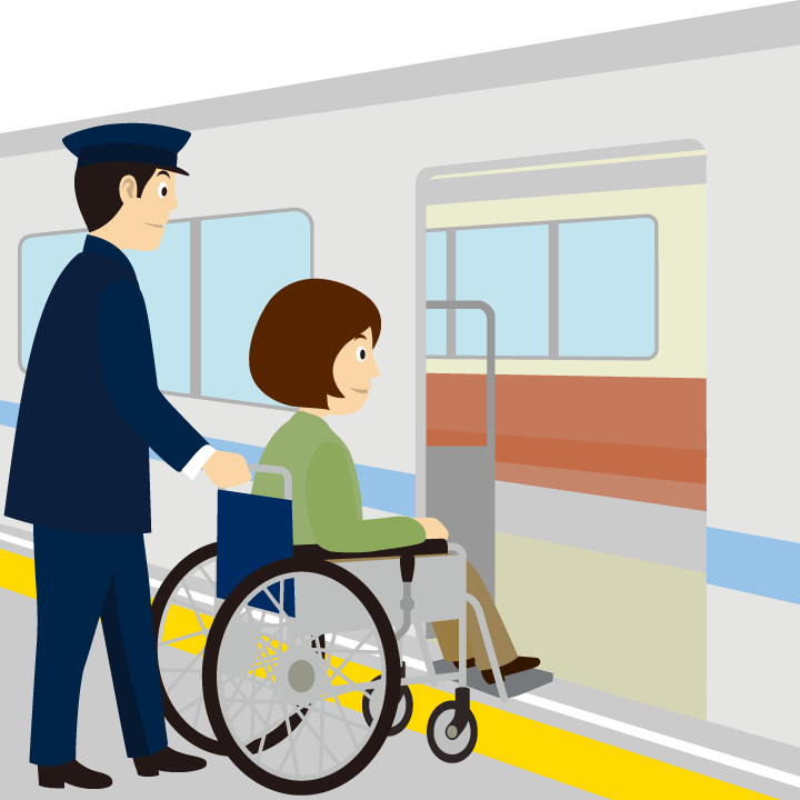 車椅子(車いす)の方の交通機関での介助